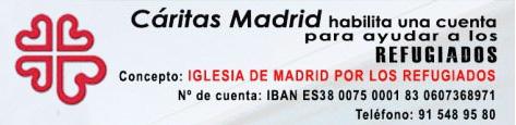 Cáritas Madrid habilita una cuenta para ayudar a los refugiados sirios