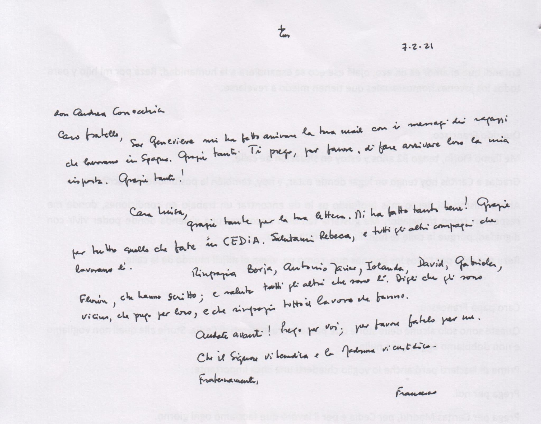 carta papa cedia original