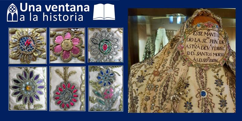 El manto de la Virgen donado por la reina María Luisa de Parma