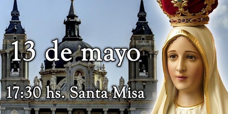 La catedral acoge una Eucaristía en la festividad de la Virgen de Fátima organizada por los Heraldos del Evangelio