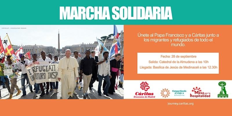 Marcha solidaria en Madrid