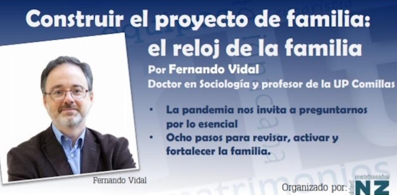 Fernando Vidal ofrece una conferencia sobre cómo fortalecer la familia en tiempos de pandemia