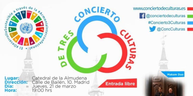 La catedral de la Almudena acogerá la VI edición del concierto de Tres Culturas