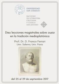 'Diez lecciones magistrales sobre ousia en la tradición medioplatónica', a estudio en San Dámaso