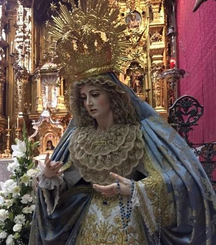 Bendición de la imagen de María Santísima de la Anunciación de la Hermandad de la Borriquita