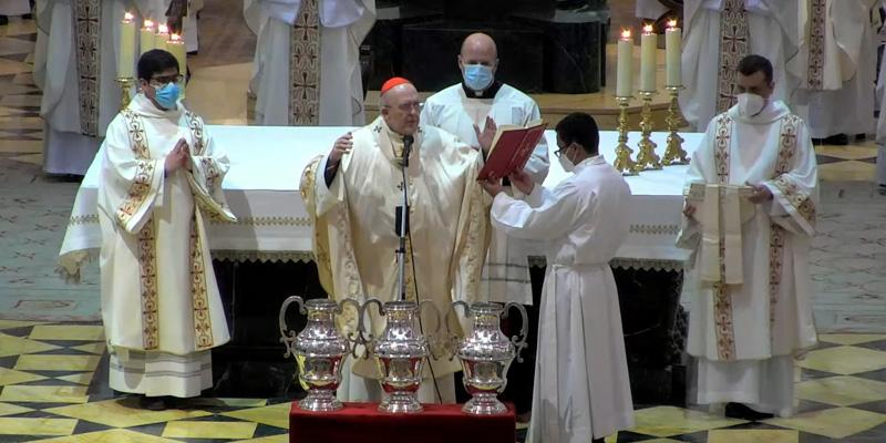 Cardenal Osoro a los sacerdotes en la Misa crismal: «¿En qué estamos gastando el tiempo en nuestro ministerio?»