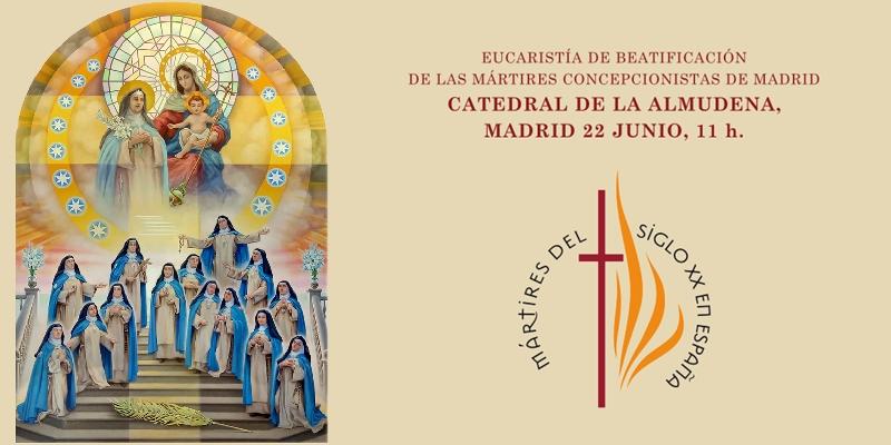 El cardenal Becciu preside la beatificación de 14 mártires concepcionistas franciscanas en la catedral
