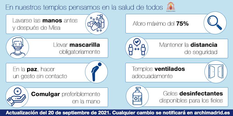 La Comunidad de Madrid mantiene el aforo máximo de los templos al 75 %